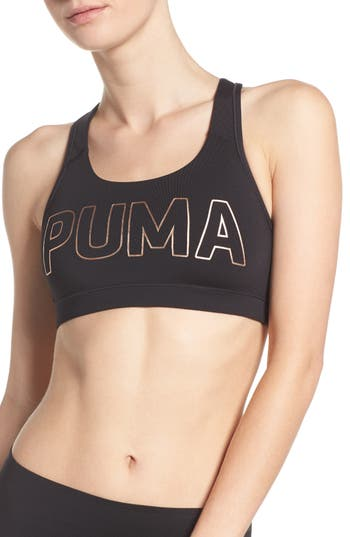 Puma Powershape Forever Logo Sports Bra, Black