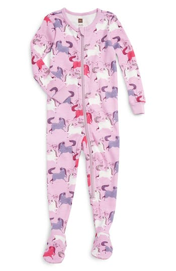 Infant Girl's Tea Collection Shetland Fitted One-Piece Pajamas