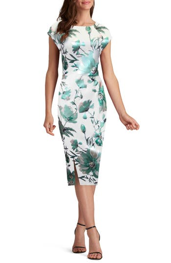 Eci Scuba Sheath Dress, Green