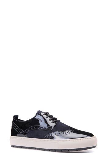 Geox Breeda Oxford Sneaker, Blue