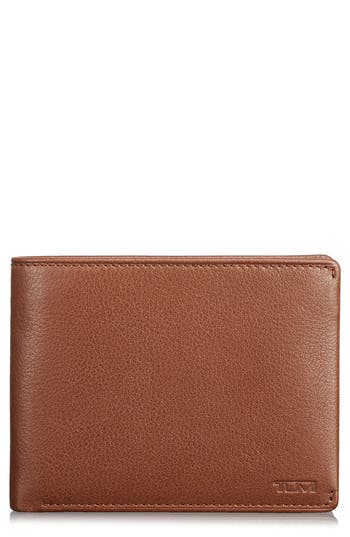 Tumi Global Leather Rfid Wallet - Brown