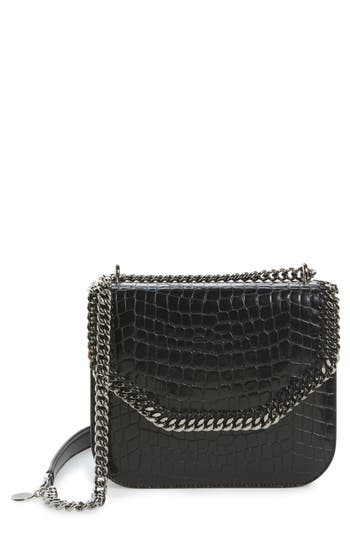 Stella Mccartney Falabella Box Faux Leather Shoulder Bag - Black at NORDSTROM.com