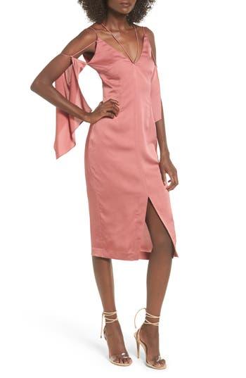 Keepsake The Label Raindrops Midi Dress, Pink