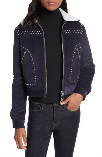 Women's Rebecca Minkoff Koshova Faux Shearling Jacket, Size X-Small - Blue