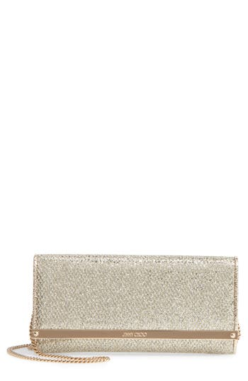 Jimmy Choo 'Milla' Glitter Wallet On A Chain - at NORDSTROM.com