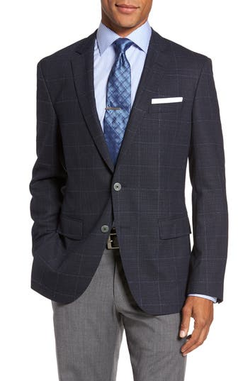 Boss Hutsons Trim Fit Sport Coat Blue