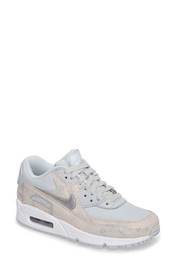 Nike Air Max 90 Embossed Premium Sneaker, Grey