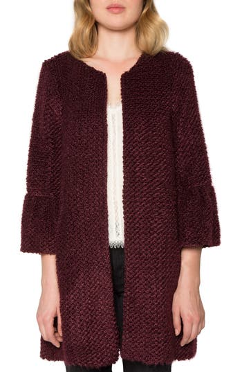 Willow & Clay Boucle Coat, Burgundy