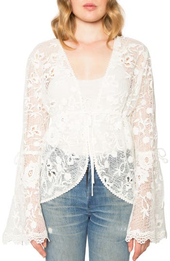 Women's Willow & Clay Lace Jacket, Size X-Small - Ivory