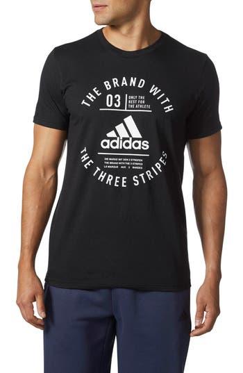 Adidas Badge Of Sport Graphic Training T-Shirt, Black