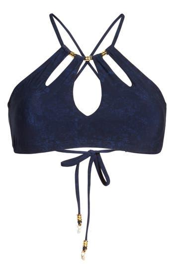 Robin Piccone Ava Bikini Top, Blue