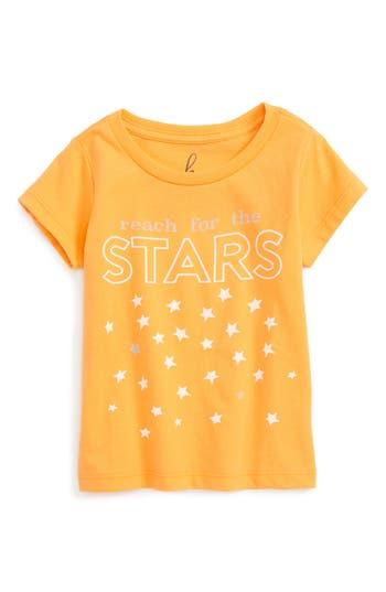 Infant Boy's Peek Reach For The Stars Graphic T-Shirt, Size L (12-18m) - Orange