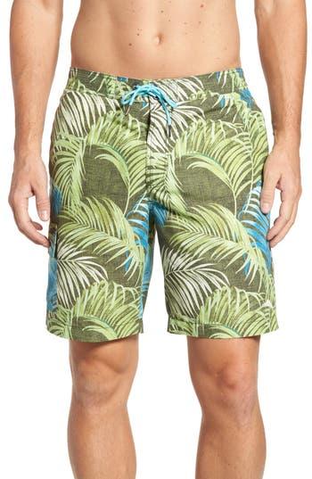 Big & Tall Tommy Bahama Baja Fez Frond Board Shorts - Brown