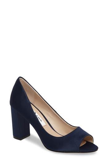 Nina Farlyn Peep Toe Pump, Blue