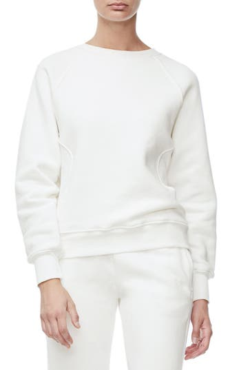 Good American Good Sweats The Not-So-Basic Crew Sweatshirt, White