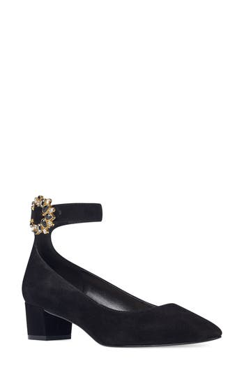 Nine West Bartly Ankle Strap Pump, Black