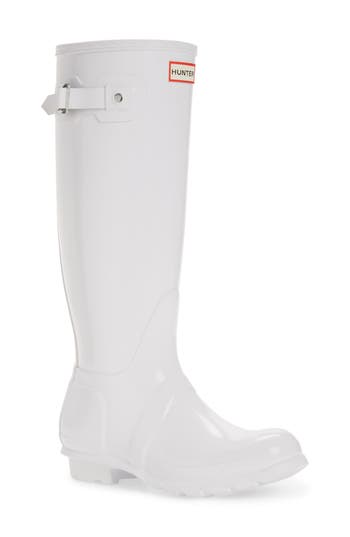 Hunter Original High Gloss Boot, White