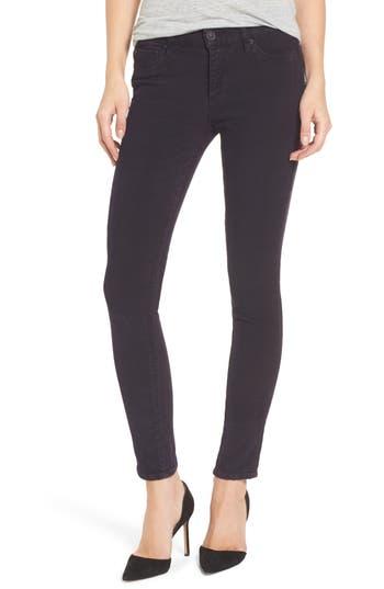 Hudson Jeans Nico Ankle Super Skinny Corduroy Pants, Purple