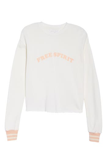 Women's Spiritual Gangster Free Spirit Crop Sweatshirt