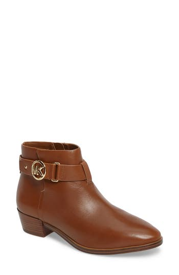 Michael Michael Kors Harland Logo Charm Bootie- Brown