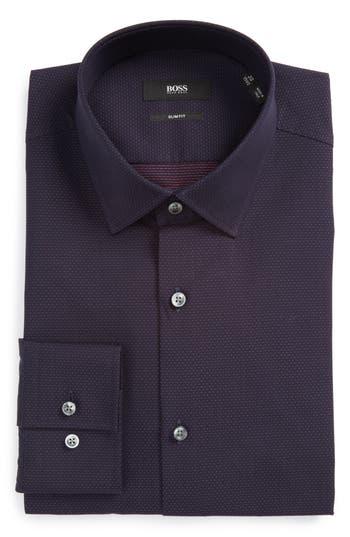 Men's Boss Jenno Slim Fit Dot Dress Shirt