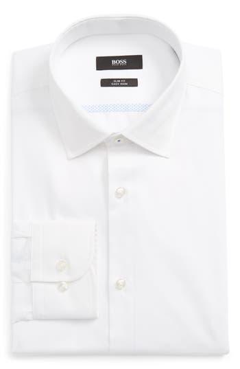 Men's Boss Jerris Slim Fit Easy Iron Solid Dress Shirt