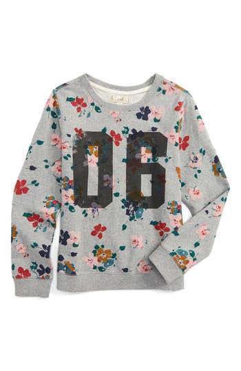 Girl's Peek Graphic Print Sweatshirt