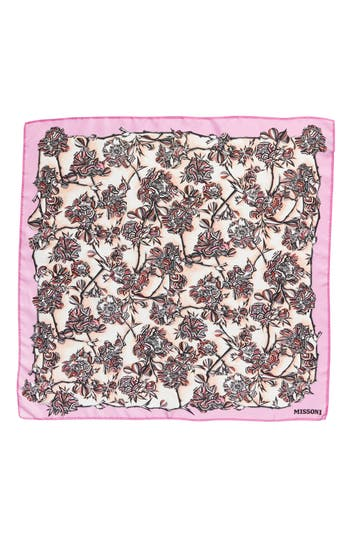 Women's Missoni Floral Print Square Silk Scarf, Size One Size - Pink
