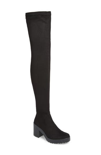 Topshop Cactus Over The Knee Boots - Black