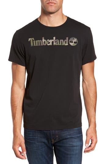 Men's Timberland Dunston River Camo Logo T-Shirt, Size Small - Black