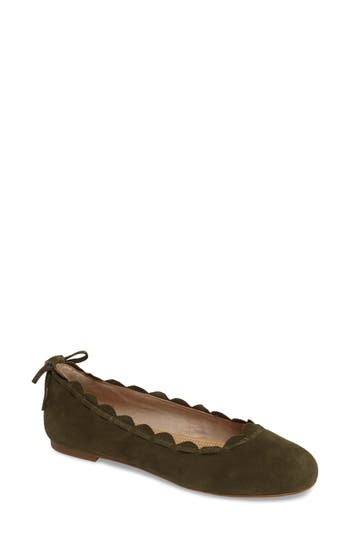 Jack Rogers Lucie Scalloped Flat- Green