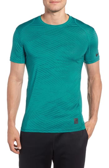 Nike Fitted Athletic T-Shirt, Blue/green