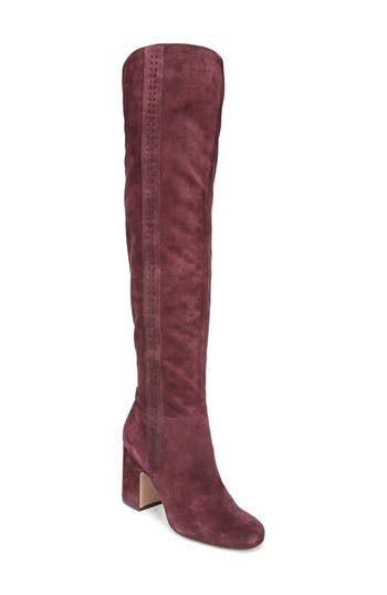 Sarto By Franco Sarto Laurel Over The Knee Boot- Burgundy