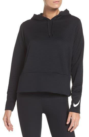 Nike Dry Ribbed Hoodie, Black