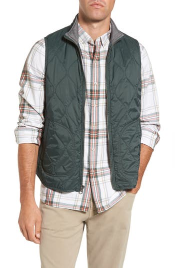 Michael Bastian Nylon Quilted Vest, Green
