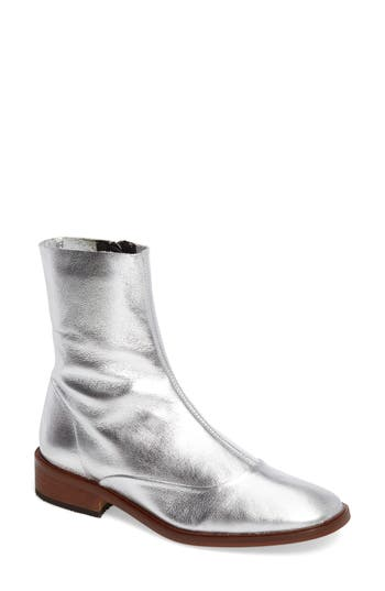 Topshop April Sock Boots - Metallic