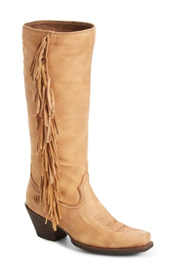 Ariat Leyton Fringe Western Boot, Brown