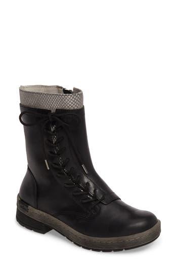 Jambu Chestnut Lace-Up Water Resistant Boot, Black