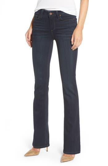 Petite Paige Transcend - Manhattan Bootcut Jeans, Blue