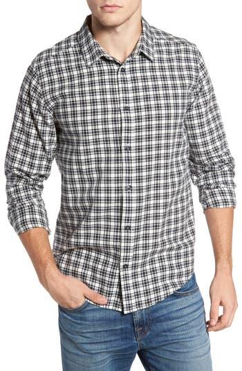 Rvca Hayes Plaid Flannel Sport Shirt, White