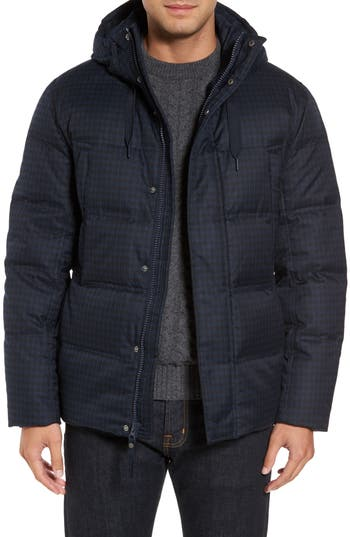 Marc New York Houndstooth Quilted Down Jacket, Blue