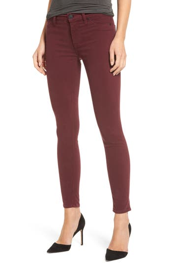 Hudson Jeans Nico Ankle Skinny Pants, Red