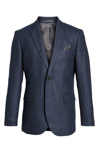 Moods Of Norway Andersen Trim Fit Plaid Wool Sport Coat, Blue