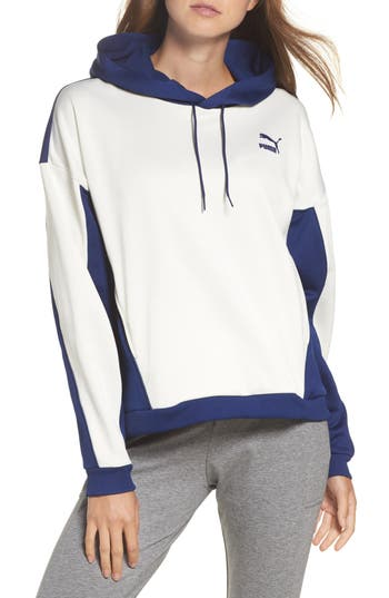 Puma Colorblock Oversize Hoodie, Blue