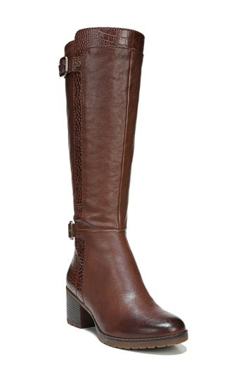 Naturalizer Rozene Knee High Boot Wide Calf- Brown