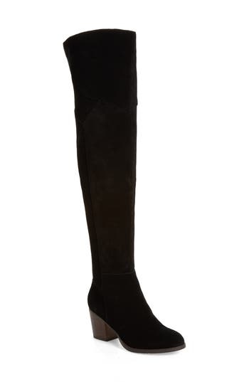 Sole Society Catalina Over The Knee Boot, Black