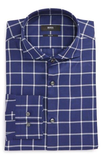 Men's Boss Jason Slim Fit Windowpane Dress Shirt