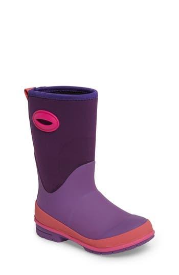 Girl's Western Chief Neoprene Purple Snow Boot
