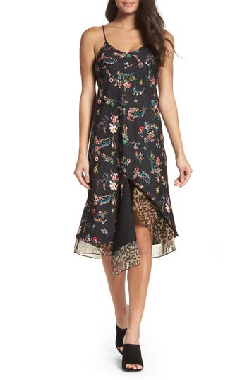 Sam Edelman Mix Media Slipdress, Black