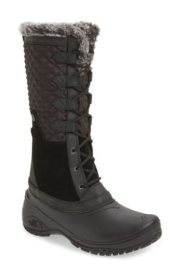 The North Face Shellista Iii Tall Waterproof Insulated Winter Boot- Black